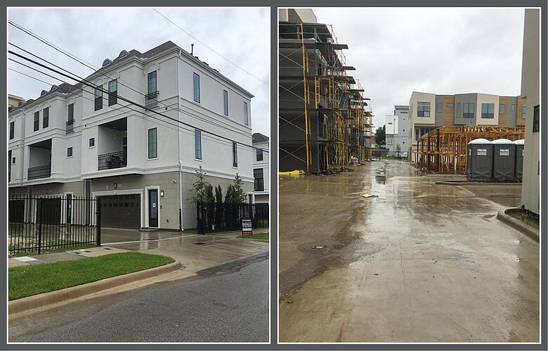 Hurricane Harvey images: Upper Richton and Parc at Midtown