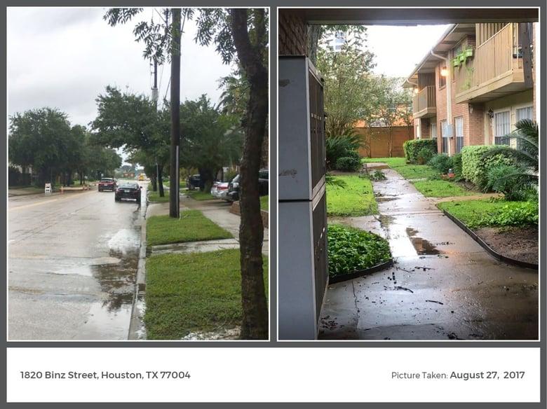 Hurricane Harvey Images: Binz Street