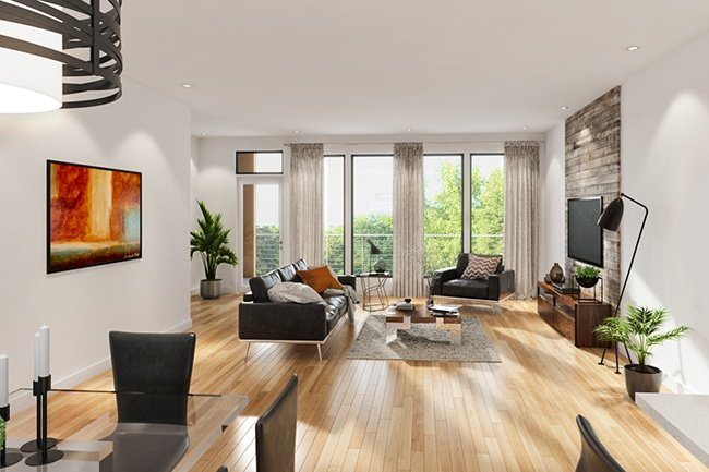 Museum BLVD Penthouse Living Room