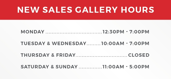 New Sales Gallery Hours