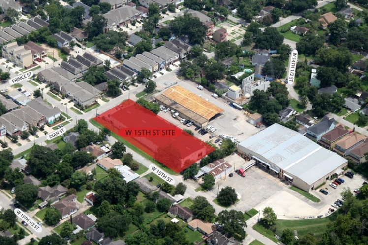 Hampton Heights - aerial view of site