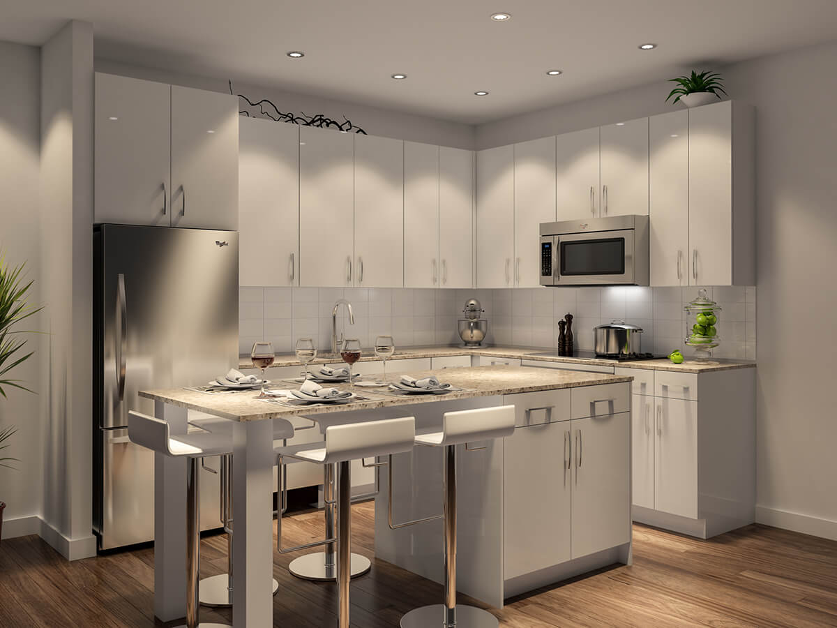 The Isabella at Midtown - kitchen rendering
