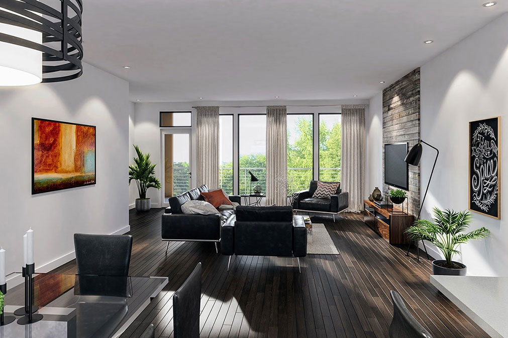 Museum BLVD - penthouse living/dining