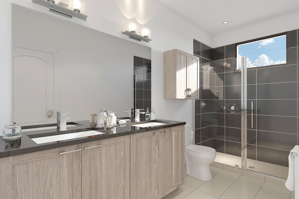 Museum BLVD - bathroom rendering