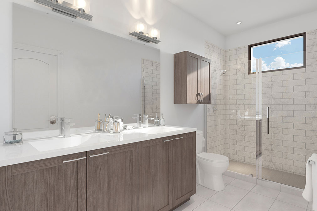 Museum BLVD - bathroom rendering