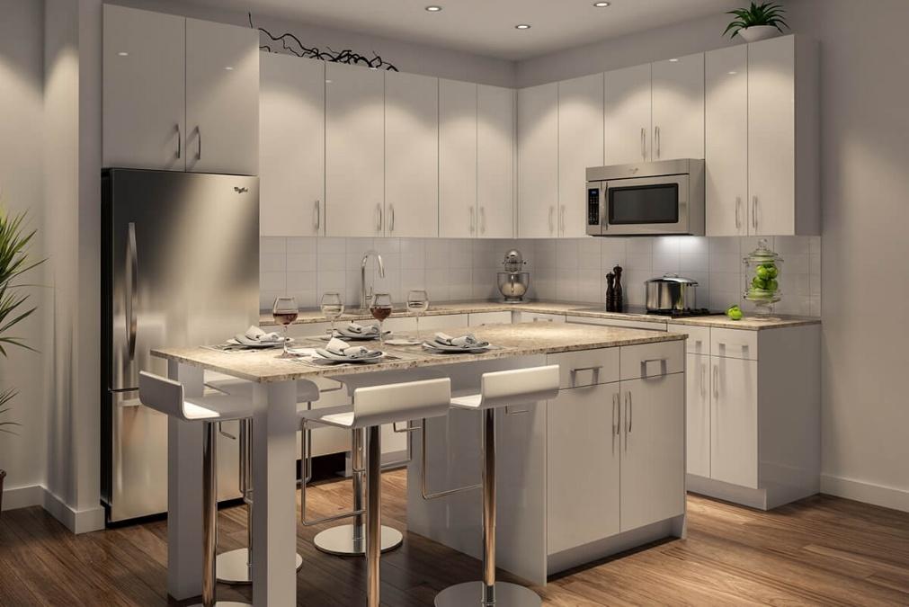 Houston condominium - Museum BLVD kitchen