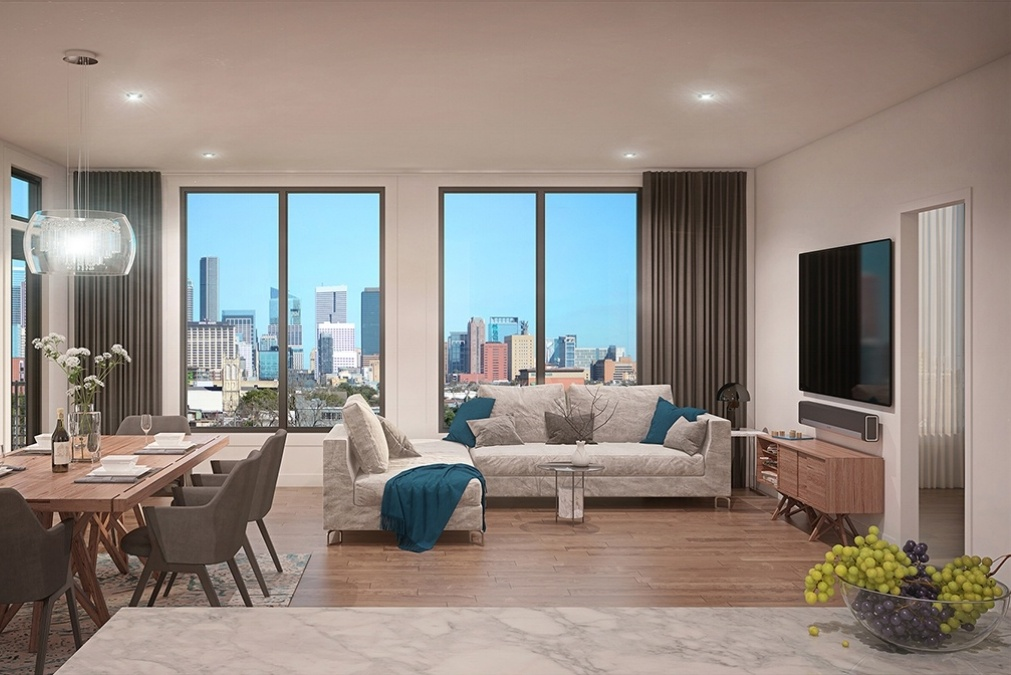 Museum BLVD - Houston condominium living/dining room