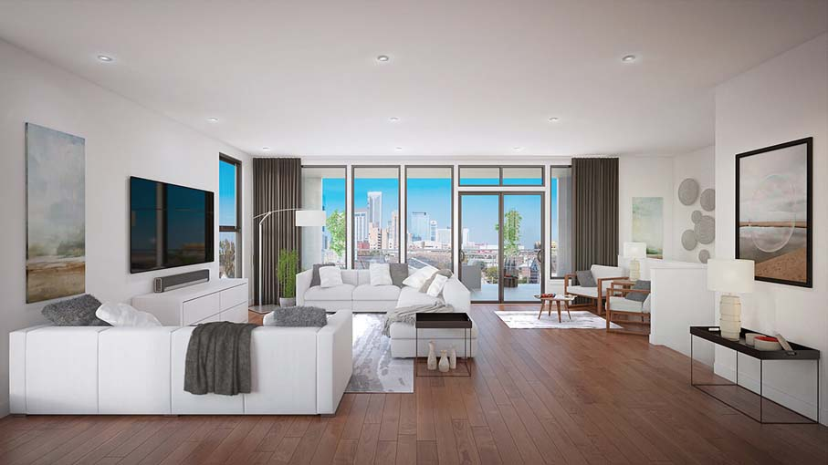 Parc at Midtown - Penthouse living/dining room
