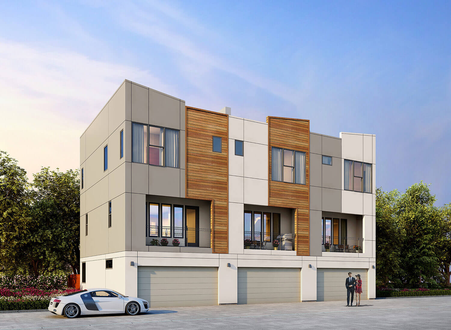 Parc at Midtown - Townhomes on the Park (back)