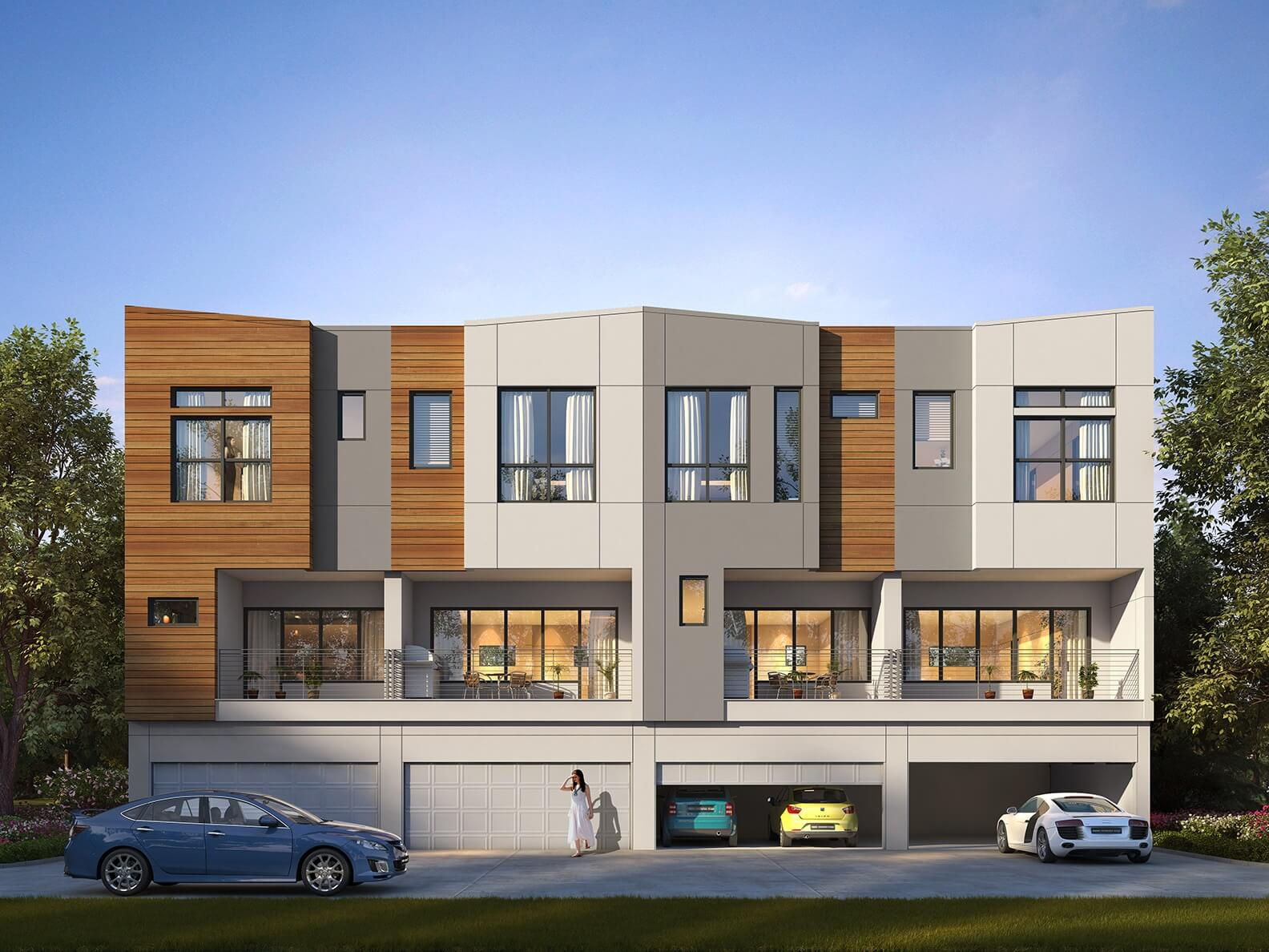 Parc at Midtown - Townhomes (back)